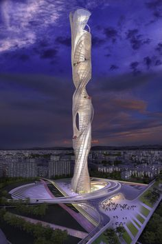 Taiwan Tower Conceptual Design Competition, Taichung, Designed by Raymond Pan of HMC Architects
