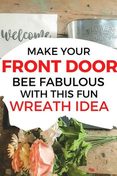 Personalize your front door decor with this easy welcome sign you can make on a budget. This Farmhouse sign will add a lot of curb appeal to your front door.