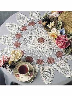 Crochet Doilies - Pineapple Doily Crochet Patterns - Pinks & Pineapples Doily