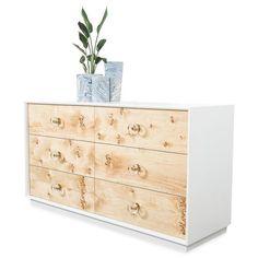 Goldfinger Dresser in Matte White Diy Dresser Plans, Ikea Dresser Makeover, Ikea Tarva Dresser, Natural Wood Dresser, White Wood Dresser, Modern Dresser, Diy Furniture Renovation, Furniture Plans, Ikea Furniture