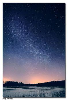 Milky way in Söderbärke, Sweden