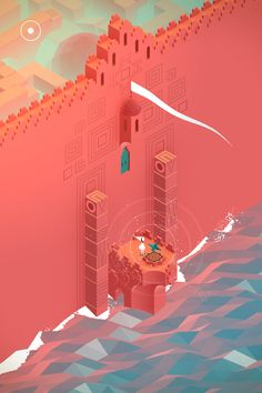 Monument Valley Inspiration - red cliff castle