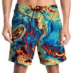 Surf Shorts, Swimwear Fashion, Summer Shorts, Printed Shorts, Shirt Blouses, Surfing, Men's Bottoms, Fashion Outfits, Beach