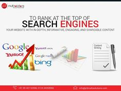 #SEO_Tips: To rank at the top of #search_engines, you must feed your #website with in-depth, informative, #engaging, and shareable content. P3 Multisolutions