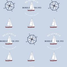 Galerie Nautical Yacht Boat Compass Wallpaper Beige Black Blue Paste Wall