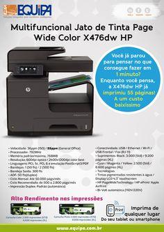 Lançamento HP Multifuncional Jato de Tinta Wide Color X476-dw