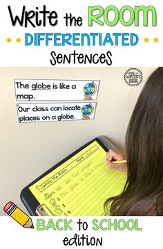 Write the Room differentiated sentences. An engaging literacy activity! A great way for kindergarten, first, and second grade students to practice reading sight words, accuracy and fluency.