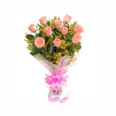 Check out our New Product  Fathers Day - Pink Delight No Flower COD Baby Pink Roses with green fillers  ₹449