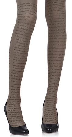 Do I want these?   Create a fun & stylish Look with these Love Text Print Tights Medium Grey & Black #TrendyLegs
