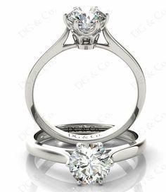 Brilliant Cut Six Claw Set Diamond Ring