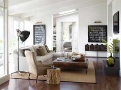 Modern Ranch House - Country Living   featuring the Country Industrial Floor Lamp   circalighting.com