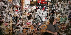 Image result for wall covered in punk posters