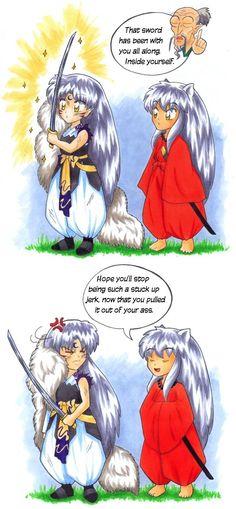 inuyasha you jerk XD Inuyasha Funny, Inuyasha Fan Art, Inuyasha And Sesshomaru, Me Me Me Anime, Anime Love, Bad Pic, No Sora, Miroku, Anime Rules