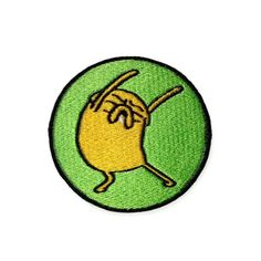 Iron on Adventure Time Dancing Jake the Dog embroidered patch