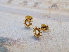 Gold Statement Earrings, Sterling Silver Earrings Studs, Unique Earrings, Etsy Earrings, Earrings Handmade, Unusual Jewelry, Beautiful Earrings, Handmade Jewelry, Minimalist Earrings