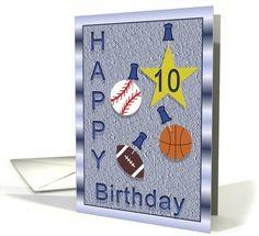 10th Birthday Card Ten Year Old Boy Cards For Boys