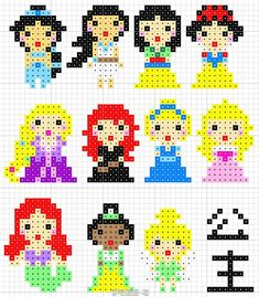 Disney Princess Perler Bead Pattern