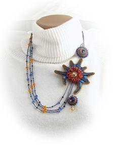 Handmade brooch-necklace transformer