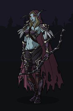 Sylvanas World of Warcraft by darkkeferas.deviantart.com on @DeviantArt