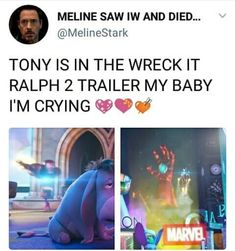 HI TONY • • • • don't waste your time reading the tags • • • • • ••• {tags} #marvel #avengers #avengersinfinitywar #buckybarnes…