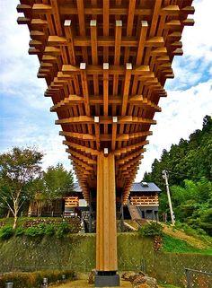 雲の上のギャラリー, 梼原 木橋ミュージアム, 雲の上のホテル, Kumo no ue no Gallery, Yusuhara, Kōchi, Japan | por Ken Lee 2010