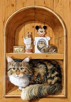 Cat&Mouse paintings. Cats and Mice - Colin Birchall