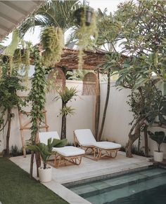 outdoor oasis backyard with pool / outdoor oasis _ outdoor oasis backyard _ outdoor oasis on a budget _ outdoor oasis backyard with pool _ outdoor oasis backyard on a budget _ outdoor oasis on a budget diy ideas _ outdoor oasis diy _ outdoor oasis ideas Design Patio, Exterior Design, Interior And Exterior, House Design, Modern Exterior, Outdoor Spaces, Outdoor Living, Outdoor Decor, Outdoor Pool