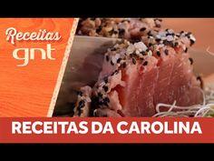 Receita de atum selado no sal grosso da Carolina Ferraz - YouTube