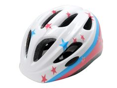 star graphic with glossy finish kid cycle helmets-AU-C06