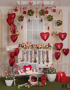 Ideia romântica para decorar o dia dos namorados. Valentine Backdrop, Valentines Balloons, Valentines Day Decorations, Valentine Day Crafts, Happy Valentines Day, Valentinstag Party, Valentine Mini Session, Valentine's Day Diy, Origami
