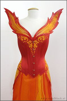Lady of Fire by Royal Black Couture & Corsetry - There are no words for how much I love this costume and how much I want to own and wear it.