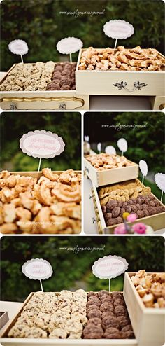 Eeek! Goodies in awesome vintage looking drawers = AMAZING!