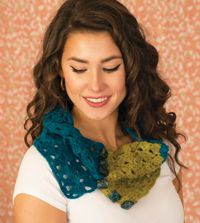 Purbeck Cowl - A lacy, #felted #cowl from Love of #Crochet magazine