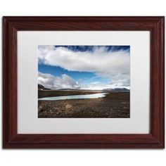 Trademark Fine Art 'Icelandic Silence' Canvas Art by Philippe Sainte-Laudy, White Matte, Wood Frame, Size: 16 x 20, Multicolor