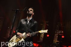 Previously unreleased photo dated 23/08/14 of Liam Fray of The Courteeners performing during day two of Leeds Festival in Bramham Park, Leeds.
