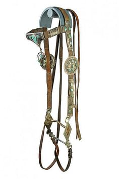 Buy online, view images and see past prices for A rare Navajo bridle with bit. Invaluable is the world's largest marketplace for art, antiques, and collectibles. Native American Horses, Native American Images, Western Horse Saddles, Western Tack, Horse Shelter, Indian Horses, Leather Halter, Cowboy Gear, Horse Gear