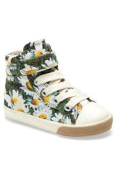 Daisy Print Hi Tops Kids Sneakers