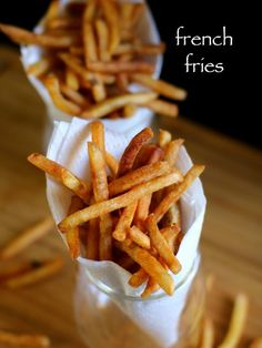 french fries recipe, crispy potato finger chips recipe with step by step photo/video recipe. popular potato chips recipe similar to the mcdonald's fast food Spicy Recipes, Cooking Recipes, Skillet Recipes, Pizza Recipes, Chicken Recipes, Vegetarian Recipes, Mcdonalds Fast Food, Mcdonalds French Fries Recipe, Chaat Recipe