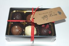 Box of 6 Handmade Truffles  mixed flavours by SweetieLoveUK