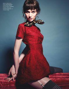 visual optimism; fashion editorials, shows, campaigns & more!: la coquine: manon leloup by liz collins for numéro #145 august 2013