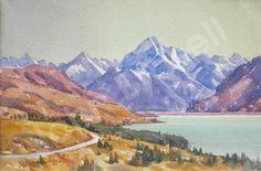 new zealand Homework, New Zealand, Mountains, Nature, Painting, Travel, Art, Craft Art, Naturaleza