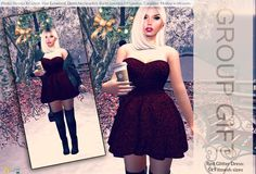 Nessmarket Group Gift Free Red Glitter Dress