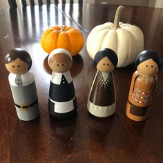 Colleen Hynes added a photo of their purchase Thanksgiving Crafts, Thanksgiving Decorations, Holiday Crafts, Wood Peg Dolls, Clothespin Dolls, Doll Crafts, Fun Crafts, Crafts For Kids, Clothes Pin Ornaments