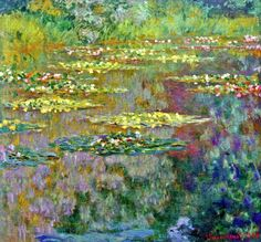 ❀ Blooming Brushwork ❀ garden and still life flower paintings - Claude Monet. Water Lilies (1904).