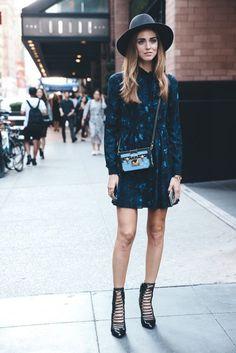 Trendy Dress Look From NY Streets