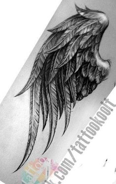 Wings for memorial tat Wing Tattoos On Back, Cover Up Tattoos, Back Tattoo, New Tattoos, Body Art Tattoos, Sleeve Tattoos, Tatoos, Raven Tattoo, Feather Tattoos