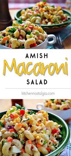 Amish Macaroni Salad - an Amish country fantasy dish