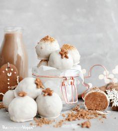 No-bake, VEGAN gingerbread cheesecake truffles recipe