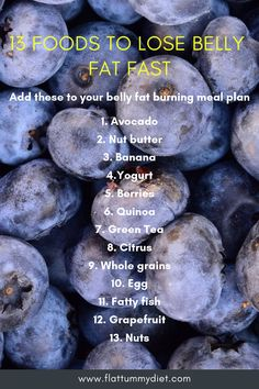 17 best fat burning foods to lose belly fat fast and naturally. These belly fat flattening foods will help reduce bloating and keep your gut healthy. Best Diet Plan, Healthy Diet Plans, Healthy Weight, Healthy Foods, Healthy Breakfast For Weight Loss, Healthy Eating, Fat Burning Detox Drinks, Fat Burning Foods, Foods For Fat Loss