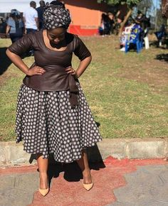 Short African Dresses, Latest African Fashion Dresses, African Print Dresses, African Print Fashion, Sotho Traditional Dresses, South African Traditional Dresses, African Attire, Dame, Seshweshwe Dresses